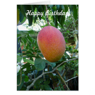 Ripe Mango Fruit Personalized Birthday Template Greeting Card