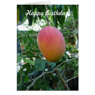 Ripe Mango Fruit Personalized Birthday Template Cards
