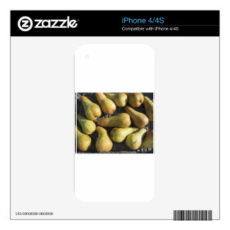 Ripe pears in box decal for iPhone 4