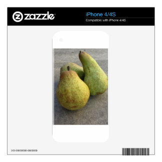 Ripe pears skins for iPhone 4S