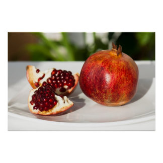 Ripe pomegranate poster