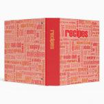 Ripe Recipes 3 Ring Binder