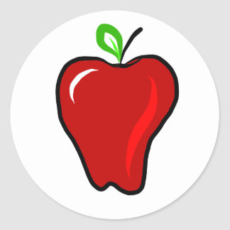 Ripe Red Apple Classic Round Sticker