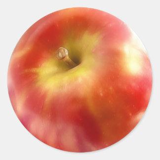 Ripe Red Apple Classic Round Sticker