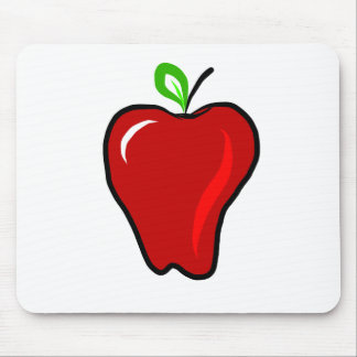 Ripe Red Apple Mouse Pad