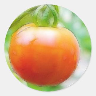 Ripe Red Heirloom Tomato Classic Round Sticker