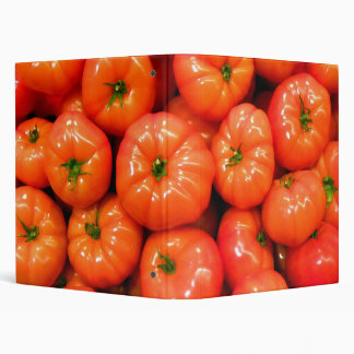 Ripe Red Shiny Tomatoes 3 Ring Binder