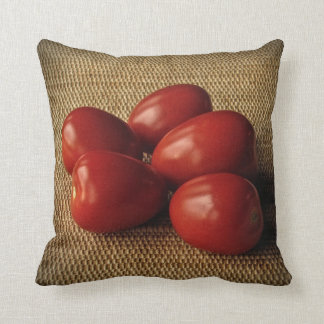 Ripe Red Tomatoes Throw Pillow