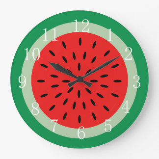 Ripe Red Watermelon Kitchen Clock