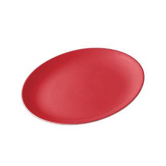 Ripe Watermelon-Colored Porcelain Plate