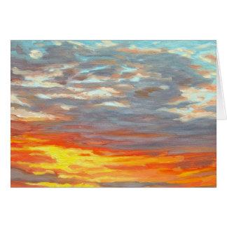 Ripe Winter Sunset Greeting Card