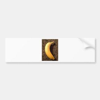 Ripe yellow banana on granite bumper sticker
