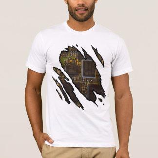 Riped-Robot Computer T-Shirt