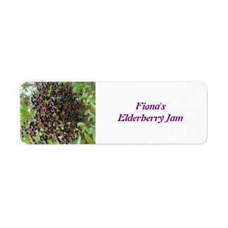 Ripening Elderberries Custom Food Labels