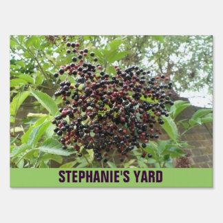 Ripening Elderberries Custom Yard Sign