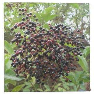 Ripening Elderberries Napkin