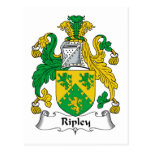 Ripley Family Crest Post Cards