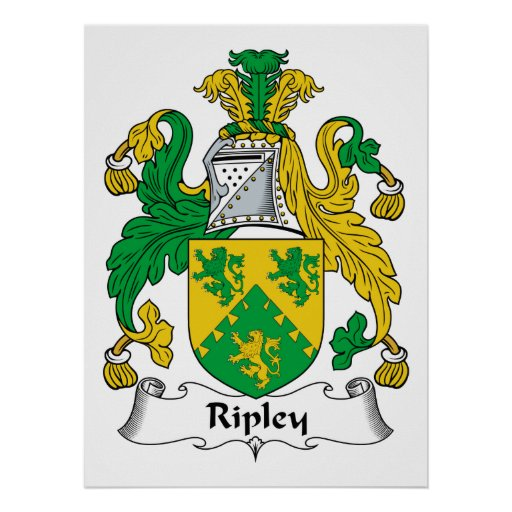 Ripley Family Crest Poster