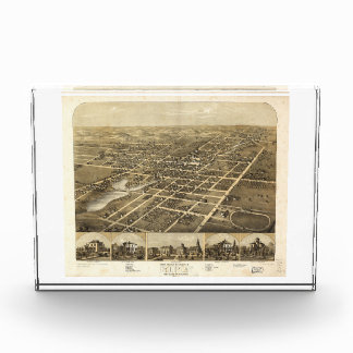 Ripon Fond du Lac County Wisconsin (1867) Acrylic Award