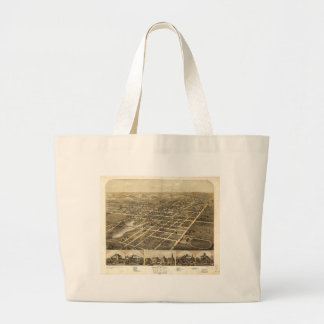 Ripon Fond du Lac County Wisconsin (1867) Large Tote Bag