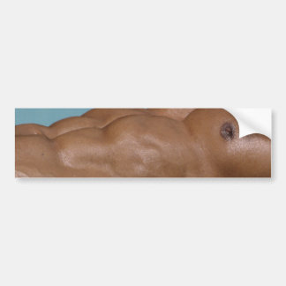 Ripped Abs Bumper Sticker