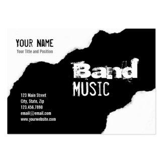 Ripped Black and White Band Grunge Graphic Large Business Card