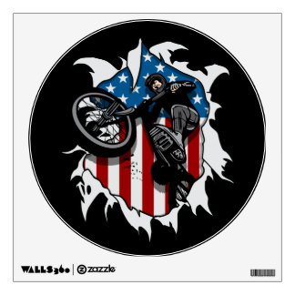 Ripped BMX Bicycle Wall Decal