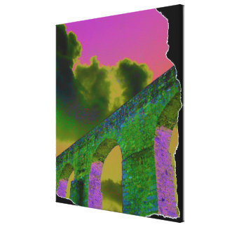 Ripped Cardboard Arches Canvas Print