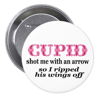 Ripped Cupids Wings Off Button