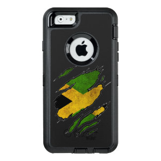Ripped Flag of Jamaica OtterBox Defender iPhone Case