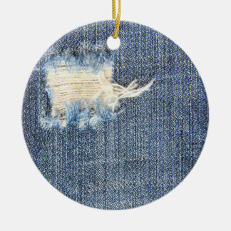 Ripped Jeans Faux Look Ornament