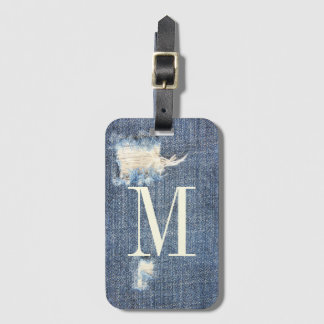 Ripped Jeans Look Monogram Luggage Tag