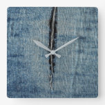 Ripped Jeans Square Wall Clock