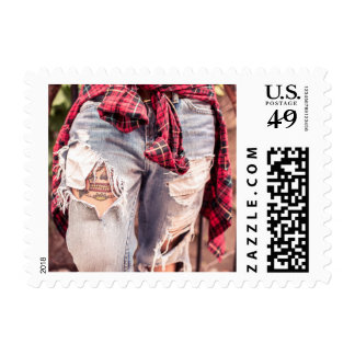 Ripped Jeans & Tattoo postage stamps