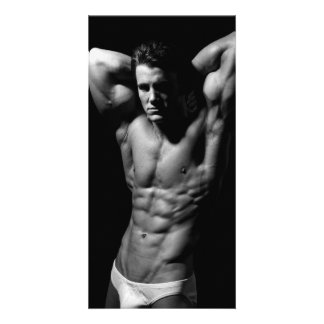 Ripped Male Fitness Model Rack Card