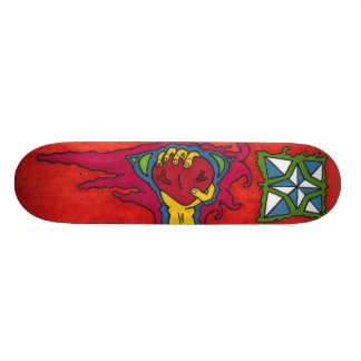 ripped out heart skateboard