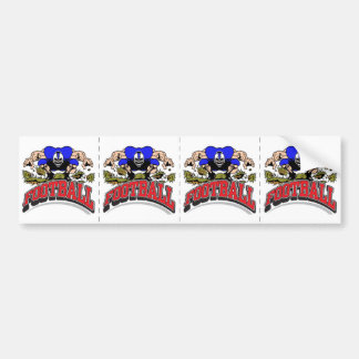 Ripped & Ready Football Player Bumper Sticker