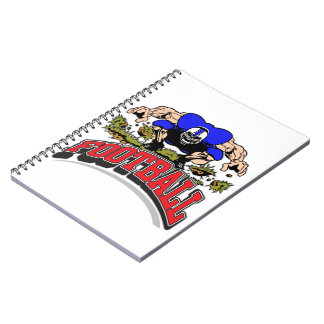 Ripped & Ready Football Player Notebook