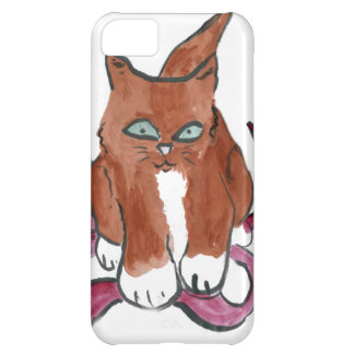 Ripped Red Ribbon Lou-Lou Cover For iPhone 5C