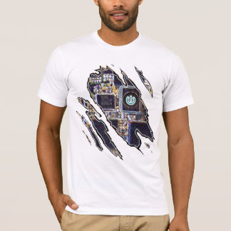 Ripped-Robot Turn Off/ On T-Shirt