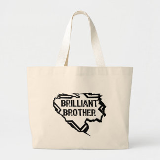 Ripped Star- Brilliant Brother- Black Tote Bags