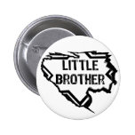 Ripped Star- Brilliant Brother- Black Pinback Button