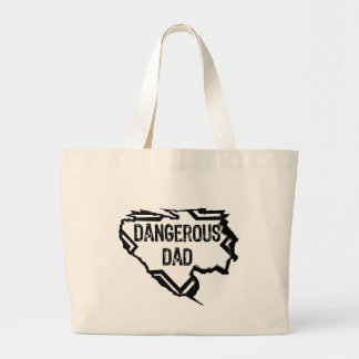 Ripped Star- Dangerous Dad -Black Canvas Bag