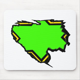 Ripped Star Green Yellow- Template(Add Own Text) Mouse Pad
