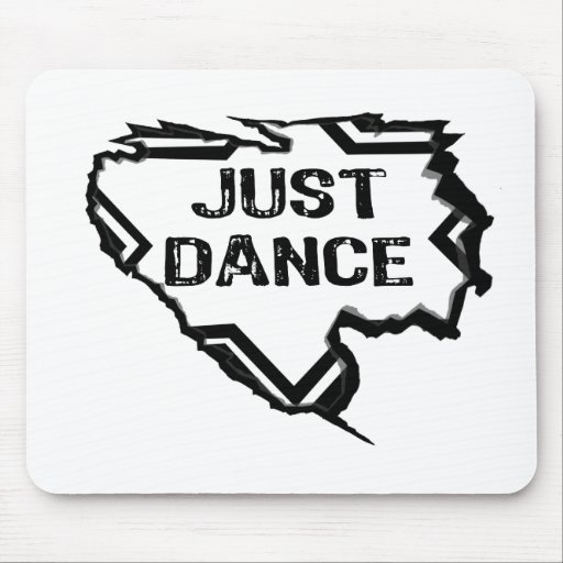 Ripped Star - Just Dance- Black Mouse Pad