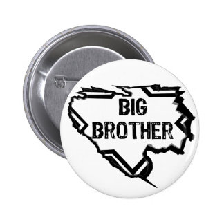 Ripped Star- Super Big Brother - Black Button