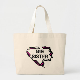 Ripped Star-Super Big Sister- Pink Canvas Bag
