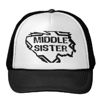 Ripped Star - Super Middle Sister- Black Mesh Hat