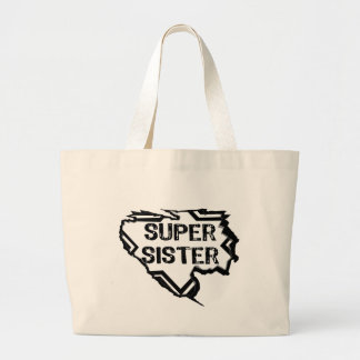 Ripped Star- Super Sister - Black Canvas Bag