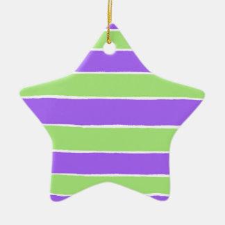Ripped striped paper pattern ceramic ornament